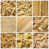 Pasta italiana - collage Fotografia Stock
