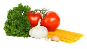 Pasta italiana con le verdure Fotografia Stock