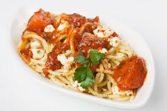 Pasta italiana degli spaghetti Fotografia Stock