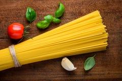 Pasta italiana degli spaghetti dell'alimento di cucina Immagine Stock