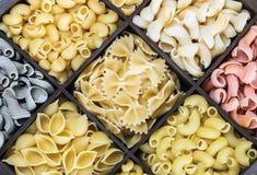 Pasta italiana dei colori differenti Immagine Stock Libera da Diritti