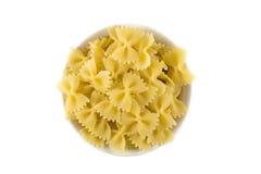 Pasta italiana isolata su bianco immagini stock libere da diritti