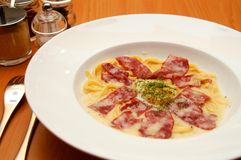 Pasta italiana saporita immagine stock