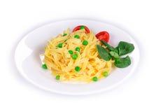 Pasta italiana saporita Fotografia Stock