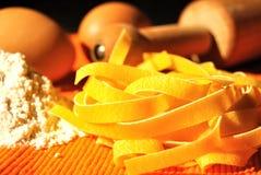 Pasta italiana - Tagliatelle Fotografia Stock