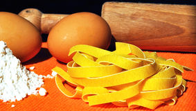 Pasta italiana - Tagliatelle Immagini Stock