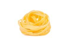 Pasta italiana: tagliatelle Immagini Stock Libere da Diritti