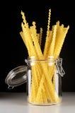 Pasta in jar Stock Images