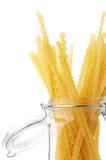 Pasta in jar Royalty Free Stock Photo
