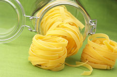 Pasta and jar Royalty Free Stock Photos