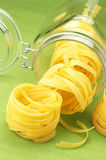 Pasta and jar Stock Photos