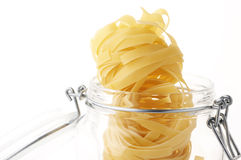 Pasta in jar Royalty Free Stock Photos