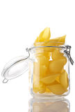 Pasta in jar Stock Photo