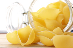 Pasta and jar Royalty Free Stock Photography