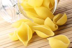 Pasta and jar Royalty Free Stock Image