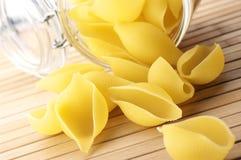 Pasta and jar Royalty Free Stock Image