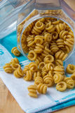 Pasta in jar Royalty Free Stock Photos