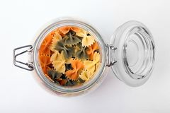 Pasta in a jar Royalty Free Stock Photo