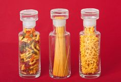 Pasta Jars Royalty Free Stock Photography