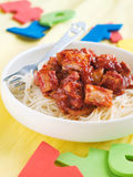 Pasta for kids Royalty Free Stock Photography