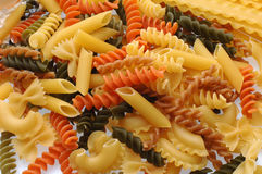 Pasta kinds Stock Image