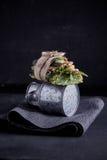 Pasta kumberlandu hamburger Fotografia Stock