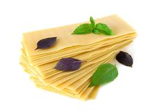Pasta for lasagna cooking Royalty Free Stock Image