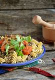 Pasta with lentil Royalty Free Stock Image