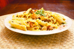Pasta with lentils Royalty Free Stock Photography