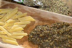 Pasta and lentils Royalty Free Stock Photography