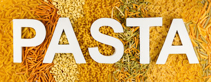 Pasta letters Royalty Free Stock Photos