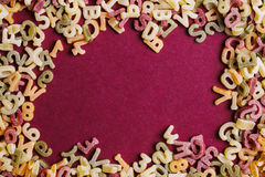 Pasta letters Royalty Free Stock Photography