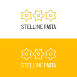 Pasta logo. Logotype of food. Linear icon. Vector  Royalty Free Stock Photos