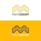 Pasta logo. Logotype of food. Linear icon. Stock Photos