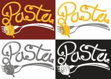 Pasta logotype Stock Images