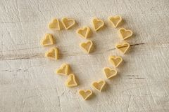 Pasta love heart shape Stock Image