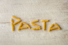 Pasta love lettering Royalty Free Stock Image