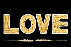 Pasta Love Stock Photography