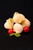 Pasta - Lumaconi And Cherry Tomatoes Stock Images