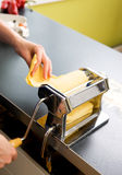 Pasta Machine on Counter Royalty Free Stock Images