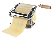 Pasta machine with dough sheet Royalty Free Stock Photography
