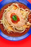 Pasta Manfredi con il formaggio di Ricotta Immagine Stock Libera da Diritti