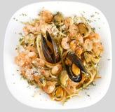 Pasta Marinara Top View Royalty Free Stock Photography