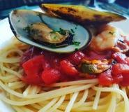 Pasta marinera stock images