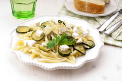 Pasta with marrow Stock Photography