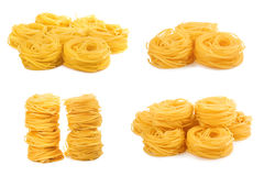 Pasta meal for dinner on white isolated background Royalty Free Stock Photo