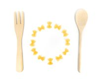 Pasta meal fun conceptual image Stock Photography