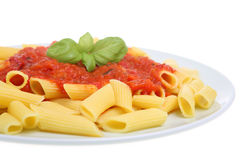 Pasta Meal with Tomato Sauce Royalty Free Stock Image