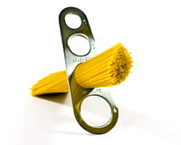 Pasta in measuring device Royalty Free Stock Photography