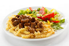 Pasta with meat Royalty Free Stock Image